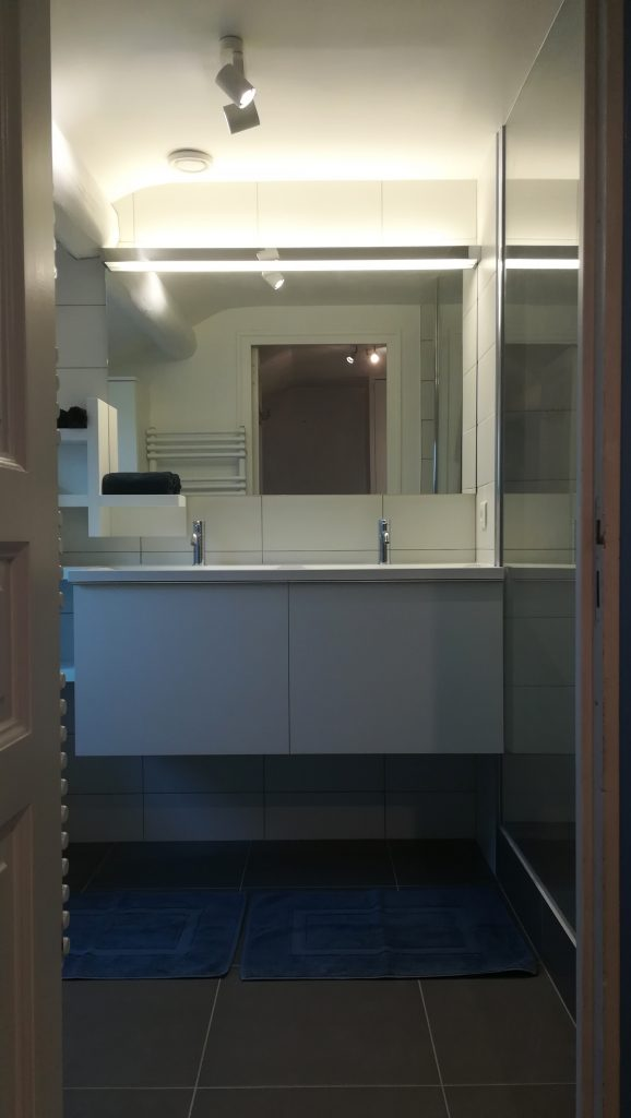 Salle de bains à Reims, meuble double vasque